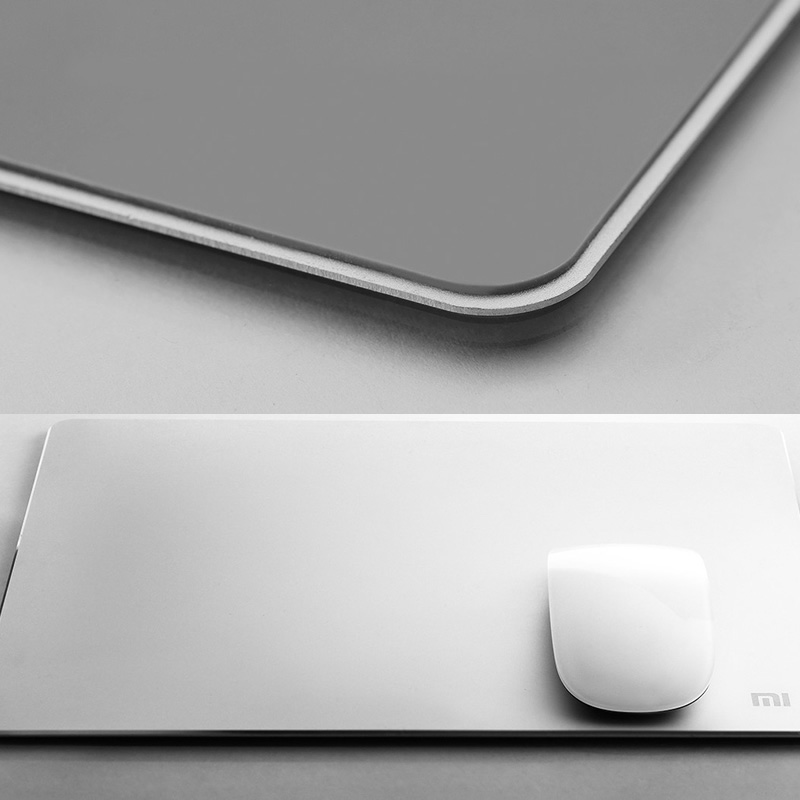 ۱۰۰-Original-Xiaomi-Metal-mouse-pad-18-24cm-3mm-32-24cm-3mm-Luxury-Simple-Slim-Aluminum-2