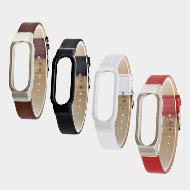 بند چرمی دستبند سلامتی شیائومی مدل Mi Band 2
