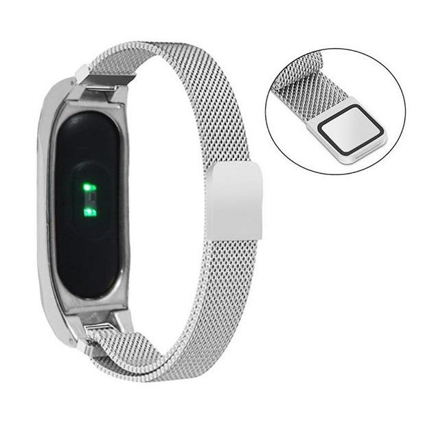 بند فلزی ریز بافت دستبند سلامتی شیائومی مدل Mi Band 2